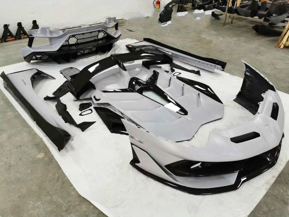 Dry Carbon fiber FRP Body Kit Front Lip Rear Diffuser Side Skirts case For for Lamborghini LP700 SVJ Trunk Bumper Guard