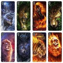 Flaming Lion Tiger Skull Wolf Soft TPU Phone Case for Sony Xperia E3 E5 T3 M2 M4 M5 XA XZ Z Z1 Z2 Z3 Z4 Z5 Compact Coque Fundas