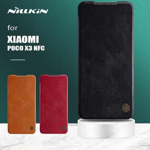 Nillkin for Xiaomi Poco X3 NFC Case Qin Slim Flip Leather Case Wallet Card Slot Protect Case for Poco X3 NFC Global Vertion Case