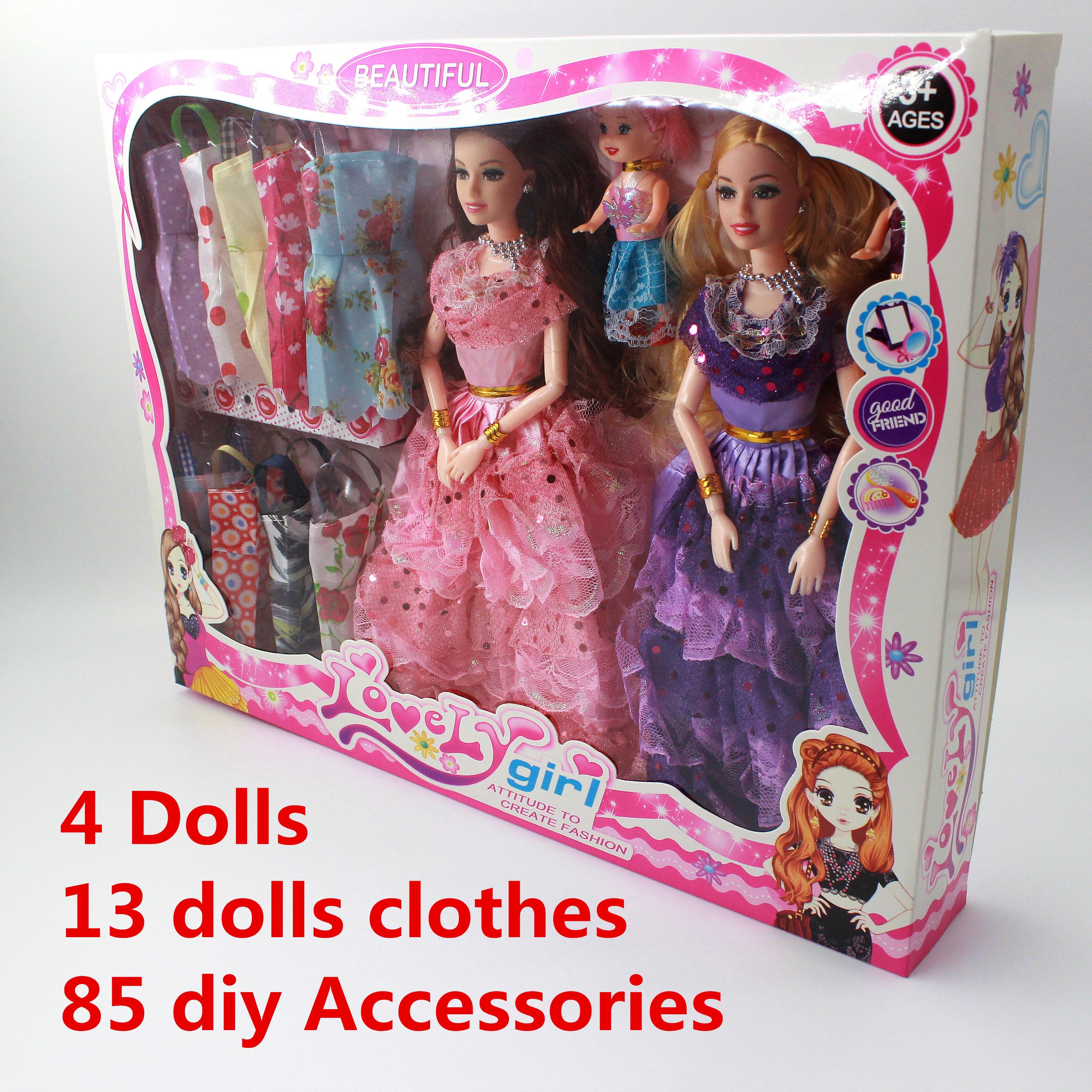 Conjunto de muñecas de moda para niñas, Set de juguetes de princesa...