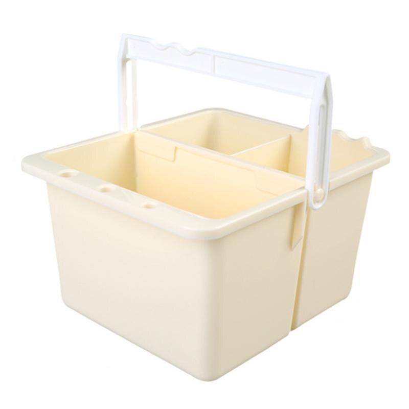 Destacável 2 em 1 escova de lavagem balde multifunções lavagem caneta barril portátil suprimentos de arte escovas ferramenta lavagem desenho pintura