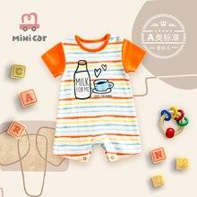 Newborn clothes summer BABY BODYSUIT Baby Short Sleeve thin hatsuit climbing
