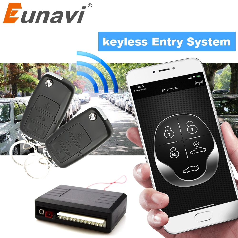 Eunavi Universal Car Alarm System Auto Door Remote Central Control Lock Locking Smart Mobile Phone C