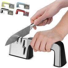 Afilador de cuchillos Hoomall 4 en 1 con recubrimiento de diamante y varilla de cerámica fina, tijeras y tijeras, herramienta de afilado, cuchillas de acero inoxidable