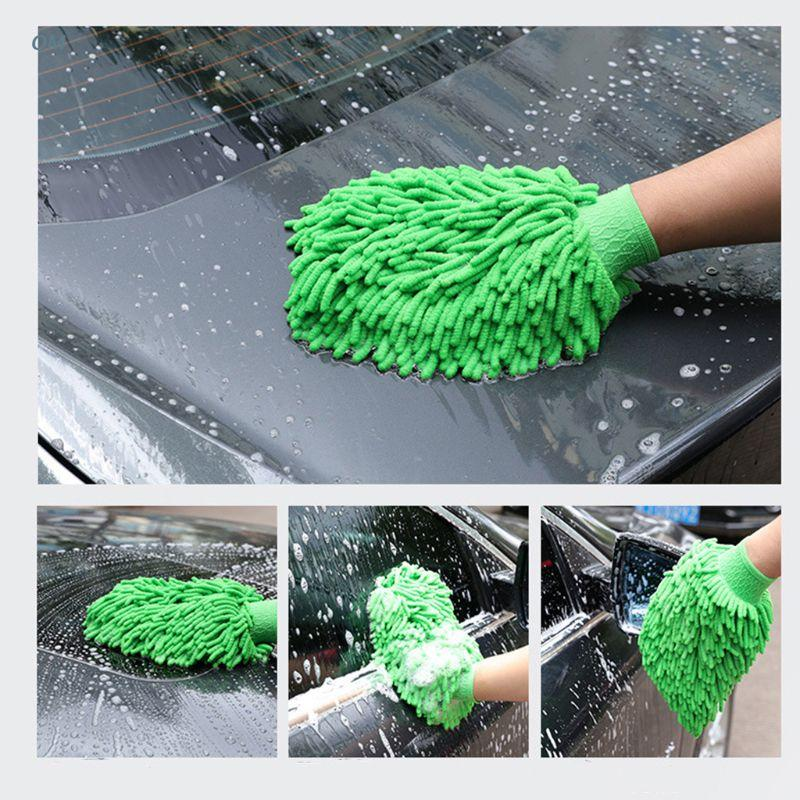 Car Cleaning Drying Gloves Ultrafine Fiber Chenille Microfiber Window Washing Tool Home Cleaning Car Wash Glove Auto 13MF