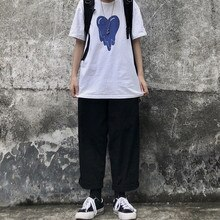 Sakurada Kawashima Ins Korean Style Spring Retro Easy Matching Loose Wide Leg Couple Wear Solid Colo