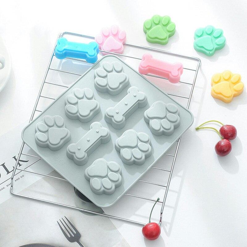 Kat Klauw Bone Vormige Siliconen Cakevorm Diy Cookies Chocolade Silicone Mold Ice Cube Tray Pudding Mallen Zeep Vorm