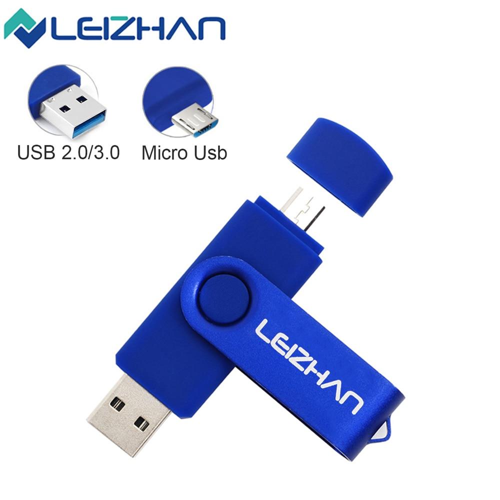 Memoria USB 3,0 OTG Micro Usb tipo C Pendrive 256 128 64 32 16 GB memoria USB 2,0 para ordenador/teléfono