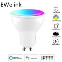EWeLink     ampoules LED intelligentes  lampe a intensite variable  fonctionne avec Alexa Google Home  application GU10 WiFi  RGBCW 4W