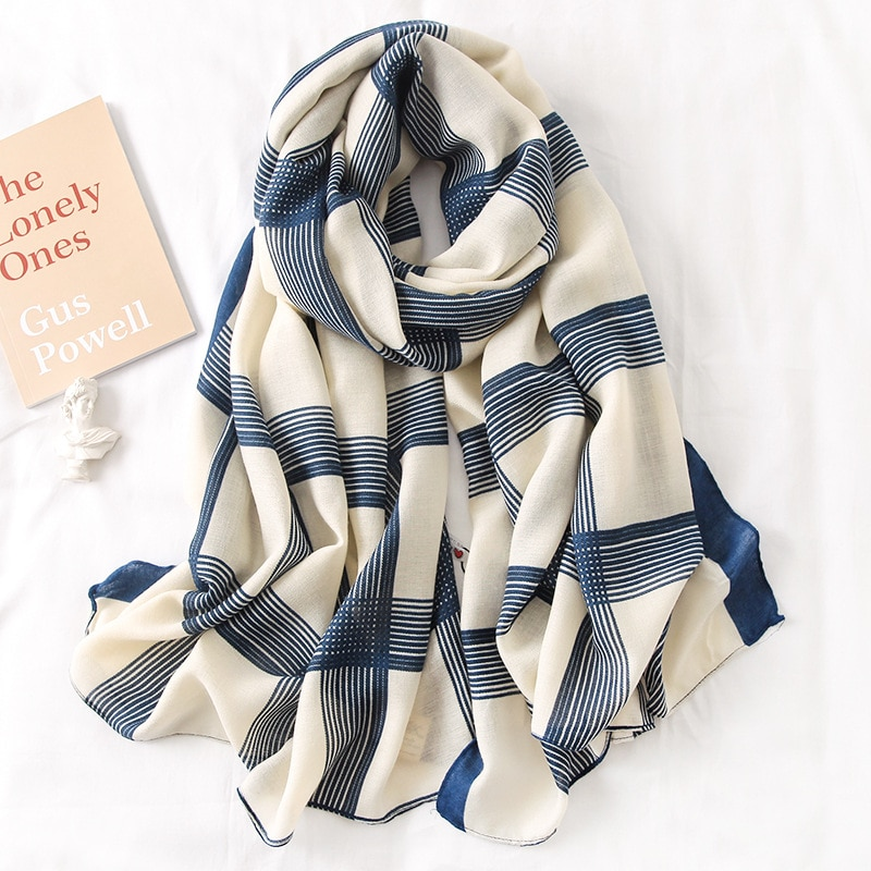 Әйелдер шарфы, сәнді мақта, көктемгі - Киімге арналған аксессуарлар - фото 3