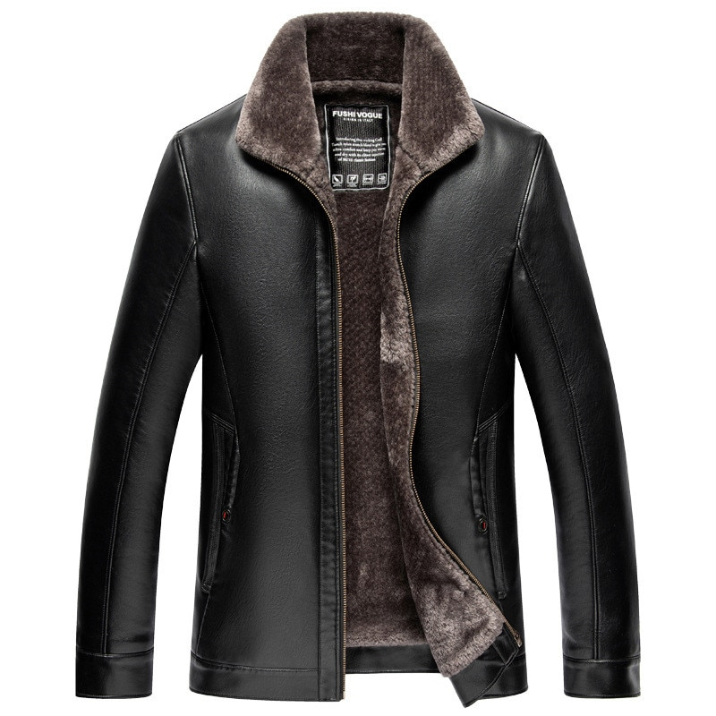 2021 Winter Mens Clothing Jacket Casual Zipper Male Sheep Skin Leather Motorcycle Coat Casual Jacket Slim Oversized 4XL 100% quality men clothing coat jacket real leather winter male jacket motorcycle zipper stand brown genuine leather jacket mens
