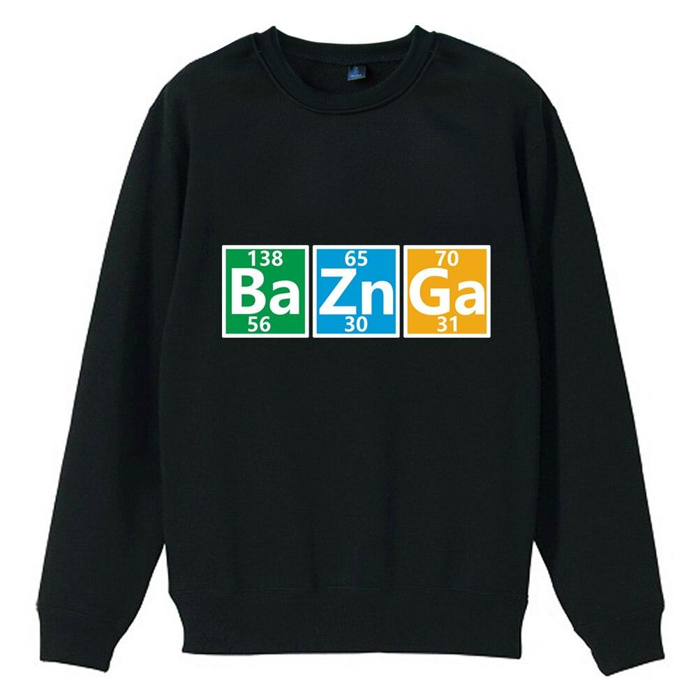 TBBT Flash Bazinga Girl Woman Crew Neck Sweatshirt Periodic Table Elements Science Font B Atom Fleece Pullover ZIIART