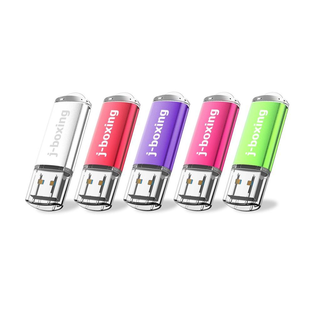 5 X 64GB USB 3.0 Flash Drives 32gb Flash Drive 3.0 Rectangle Thumb Drives USB Drive 3.0 High-Speed 128GB Pen Drives Multicolour