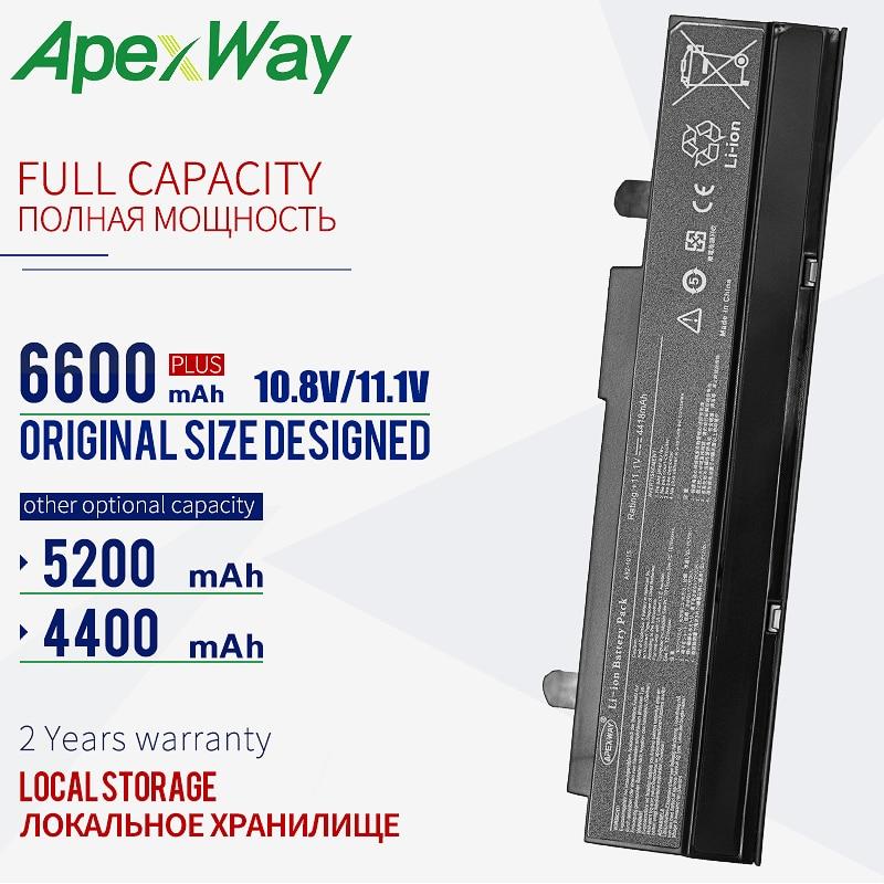 Apexway A32-1015 11.1V Preto bateria para Asus EEE PC 1011 1015 1016 1215 1015px 1015b A32-1015 A31-1015 AL31-1015 AL32-1015