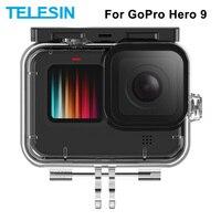 Водонепроницаемый чехол TELESIN 50 м для подводной съемки с объективом из закаленного стекла чехол для дайвинга для GoPro Hero 9 Черные Аксессуары дл...
