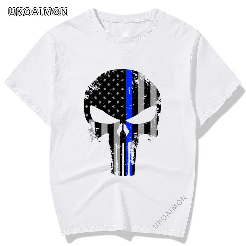 Новое поступление, сталь Skull Customized индивидуальные футболки Удобная Повседневная футболка, приталенные веселые футболки, мужские комиксы