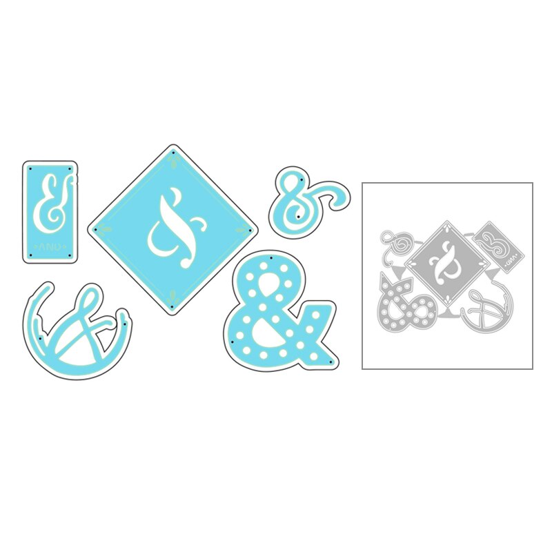 2020 nuevo símbolo y grabado de Metal troqueles de corte para DIY etiqueta tarjeta de felicitación decorativa Scrapbooking corte de papel sin sellos