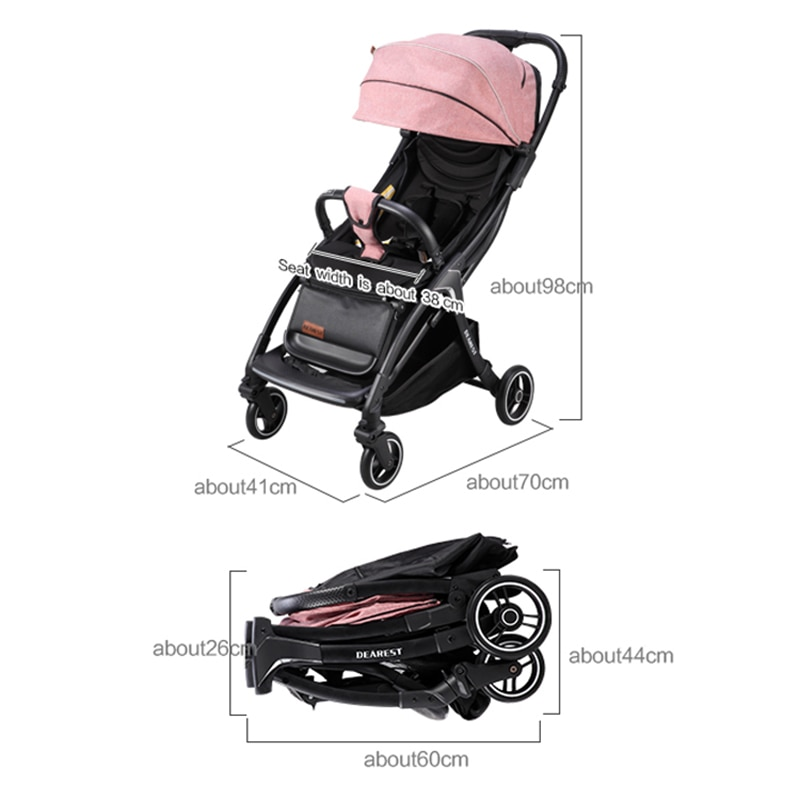 2021 New Baby Stroller Portable With Night Mosquito Repellent Warning Light, Light Appearance enlarge