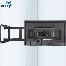 Uchwyt ścienny na TV do 32-80 Cal telewizor z dostępem do kanałów pełnoekranowy telewizor z dostępem do kanałów rama obrotowe przegubowe 4 długie ramiona Max VESA 600x400mm 100kg ładowanie