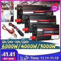 Car Inverter 12V 220V 3000W 4000W 6000W Peak Solar Power Inverter Voltage Convertor Transformer 12V 220V Inversor + LCD Display