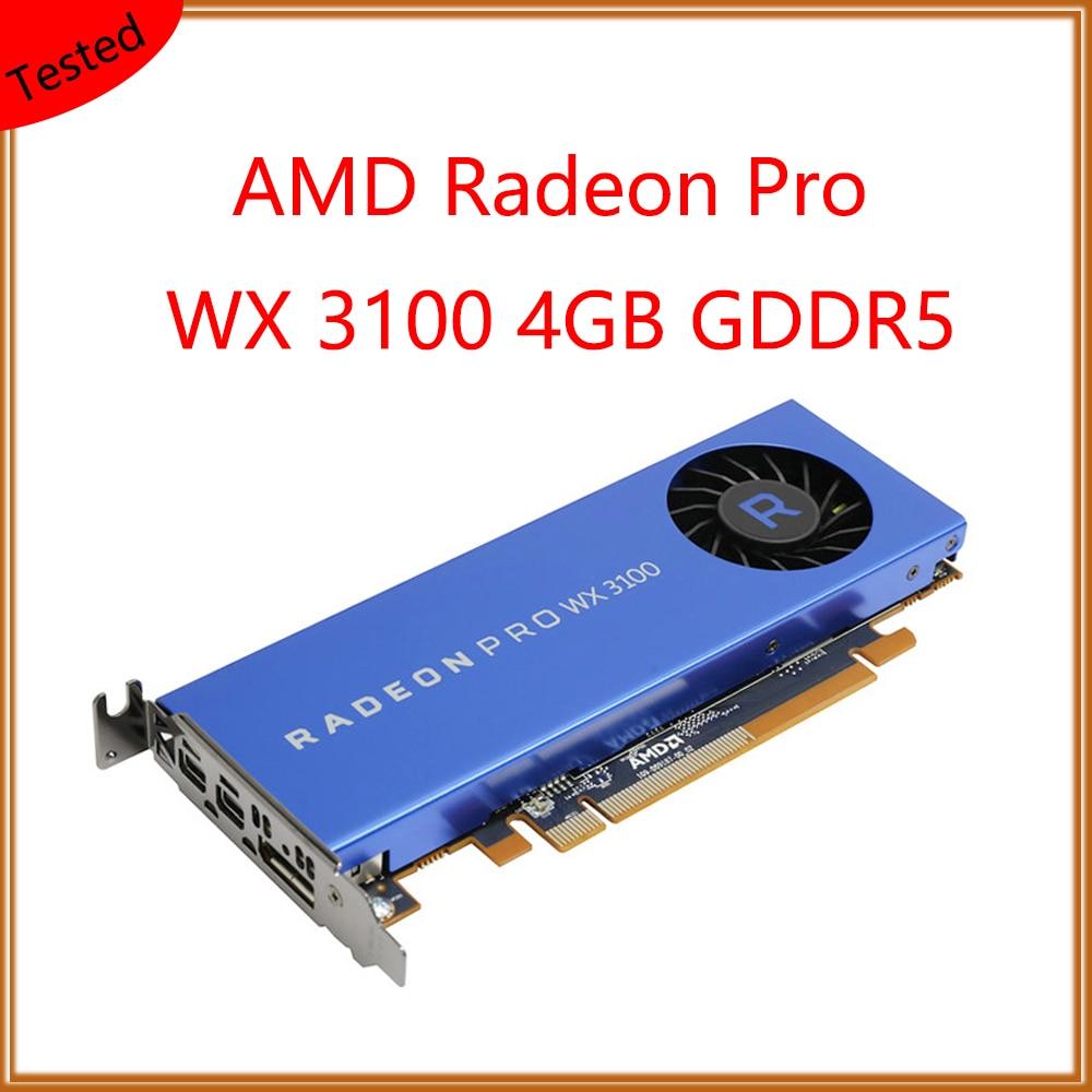 Estação de Trabalho Original para Amd Placa de Computação Radeon Placa Gráfica 4g Gddr5 100% Pro wx 3100 4gb