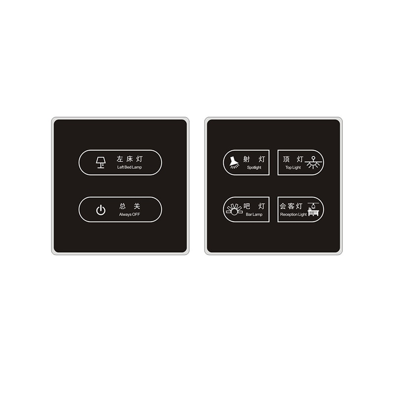 Review Hotel Smart Switch Socket ORBITA Smart Touch SWITCH Soft Light LED Backlight Indicator(optional) Capacitive Touch Screen Switch