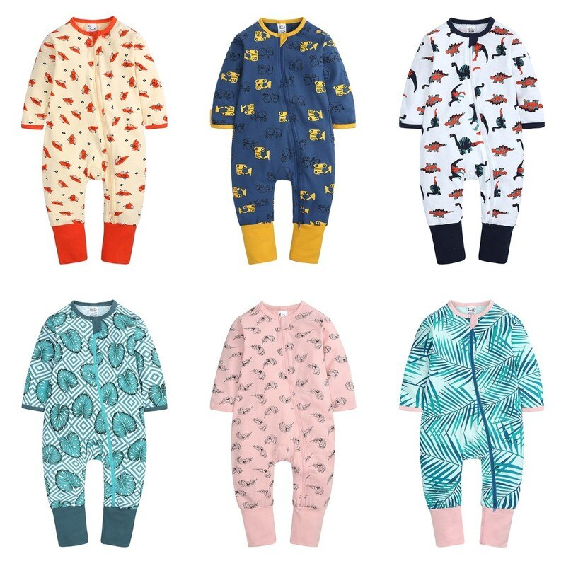 New Baby Onesies Fashion Cartoon Kids Clothes Thin Cotton Long Sleeve Rompers Spring and Autumn Newb