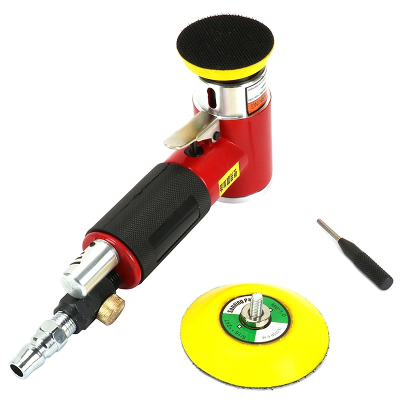 Hho 2 pulgadas 3 pulgadas Mini Kit de lijadora de aire almohadilla excéntrica Orbital de doble acción pulidora neumática herramientas de pulido para cuerpo de Auto