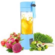 380ml 2/4/6 USB Rechargeable Blades Mini Portable Electric Fruit Juicer Smoothie Maker Blender Machine Sports Bottle Juicing Cup