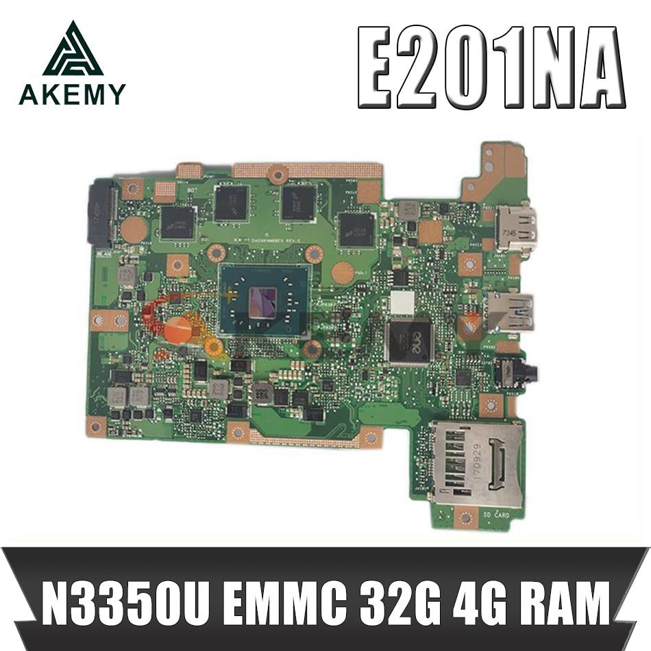 E201NAS MAIN_BD.4G/N3350U/AS EMMC 32G اللوحة الرئيسية لشركة آسوس E201NAS E201NA E201N اللوحة الأم للكمبيوتر المحمول E201NAS اللوحة 100% اختبارها