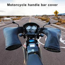 Gants de guidon de moto thermiques dhiver   Avec bande réfléchissante, protection contre le vent, imperméable et chaude, barre de poignée de moto, couvre-mains