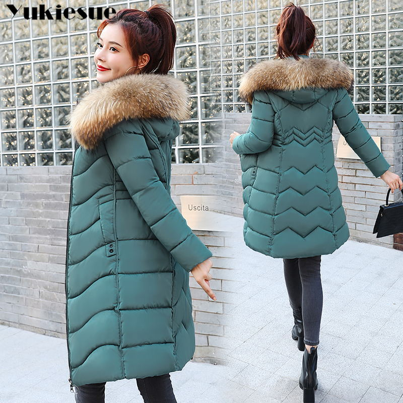 2020 New Winter Jacket High Quality faux big fur hooded Coat Women Fashion Jackets Winter Warm Woman