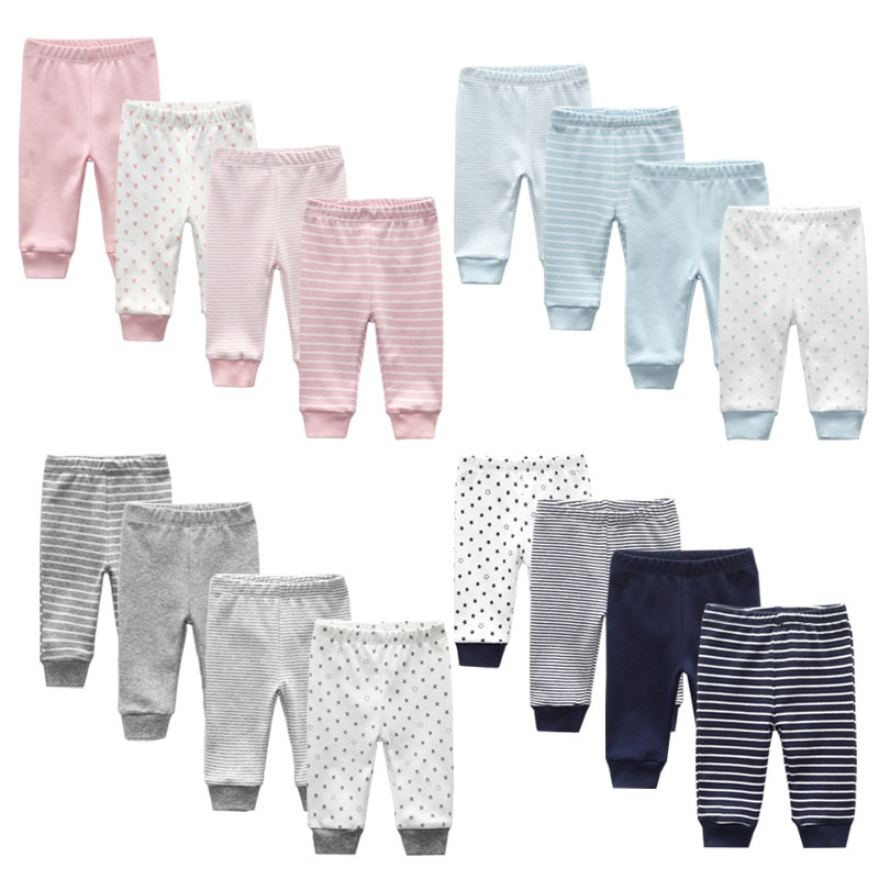 3/4PCS/LOT Newborn Pants Cartoon four seasons Baby 100%Cotton Soft Girl Pants Baby Boy trousers Pant