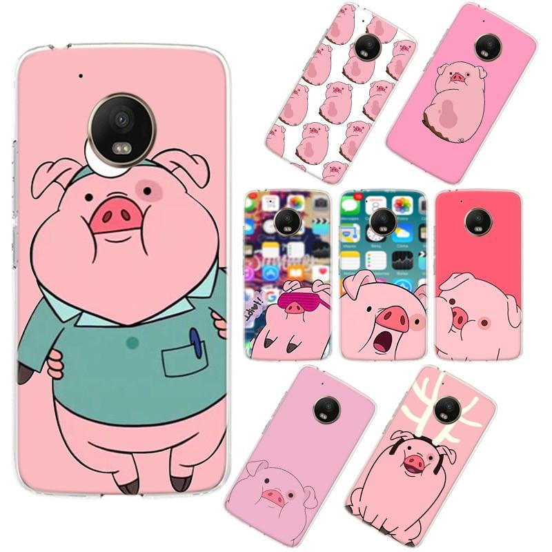 Cartoon Pink Pig Phone Case For Motorola MOTO G7 Power G5 G5S G6 E4 E5 E6 Plus G4 Play Soft Silicone TPU Phone Case Cover