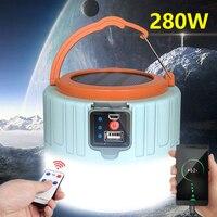Портативный светсветильник льник для кемпинга на солнечной батарее, лампа для палаток с дистанционным управлением и зарядкой от телефона, ...
