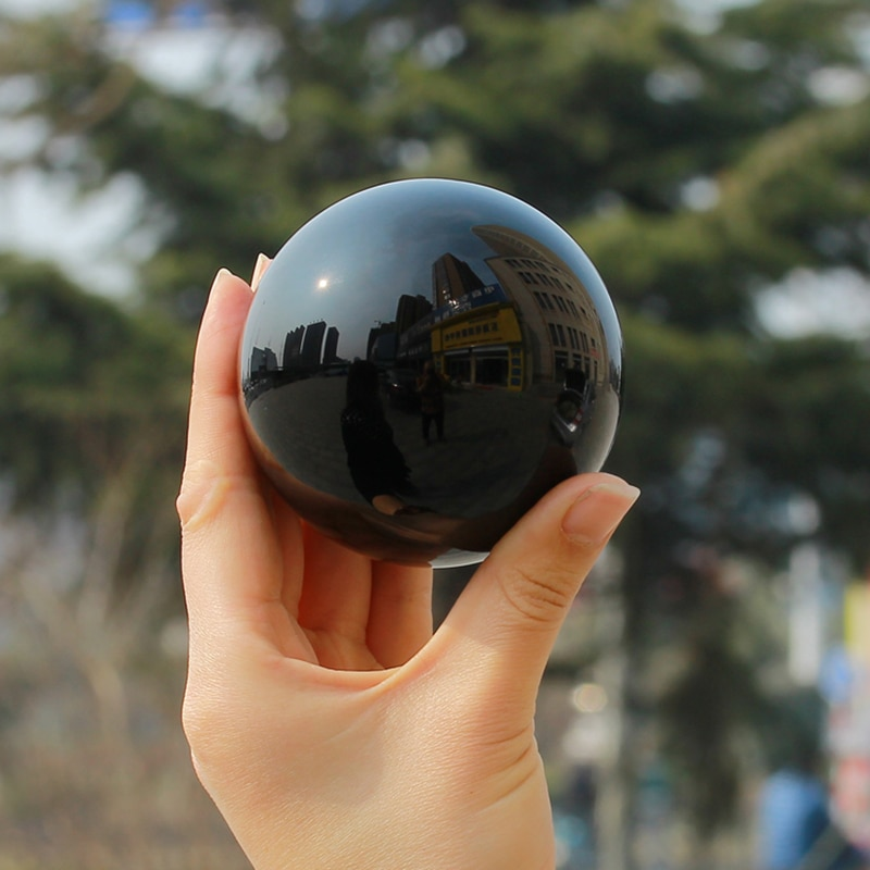 50-200MM A Natural Obsidian Stone Crystal Ball Home Decoration Ball Diviner Circular Crystals Wedding Photography Accessories