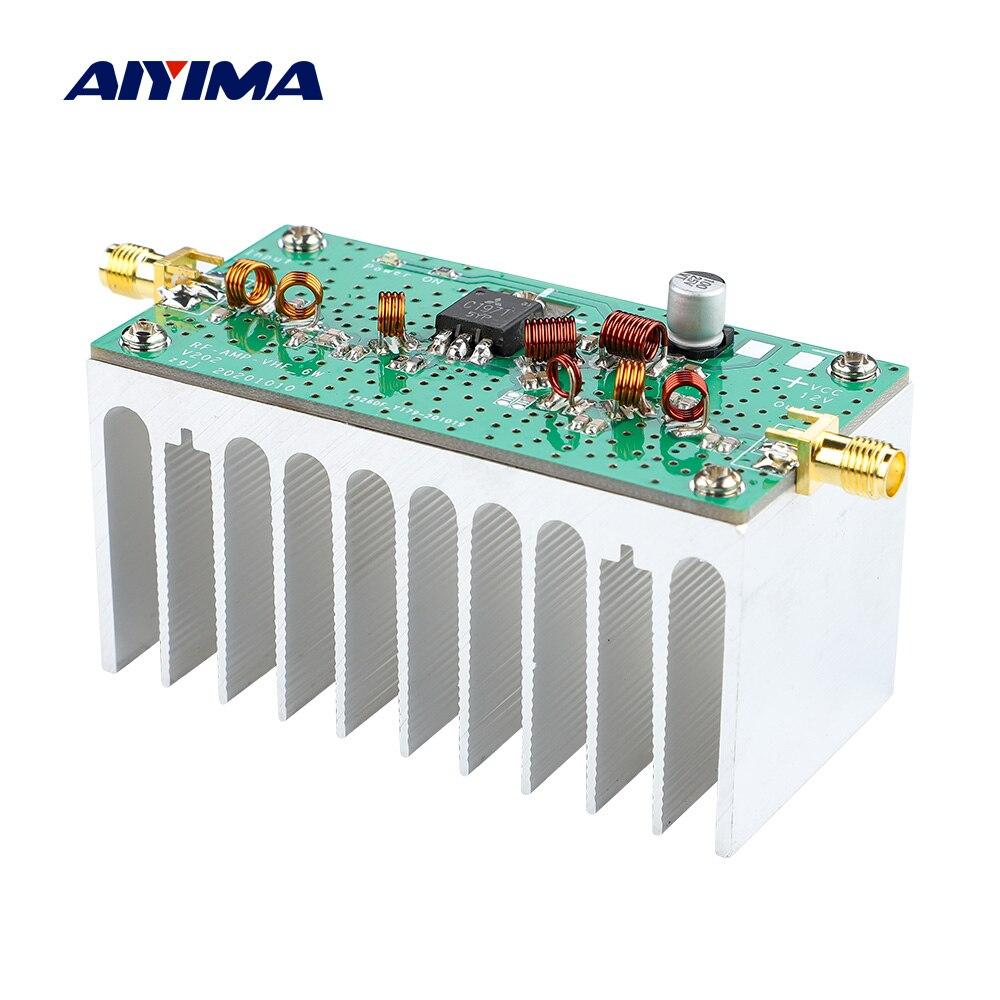 AIYIMA 88-108MHZ 6W VHF FM Amplificador de potencia Amplificador 12V para FM...