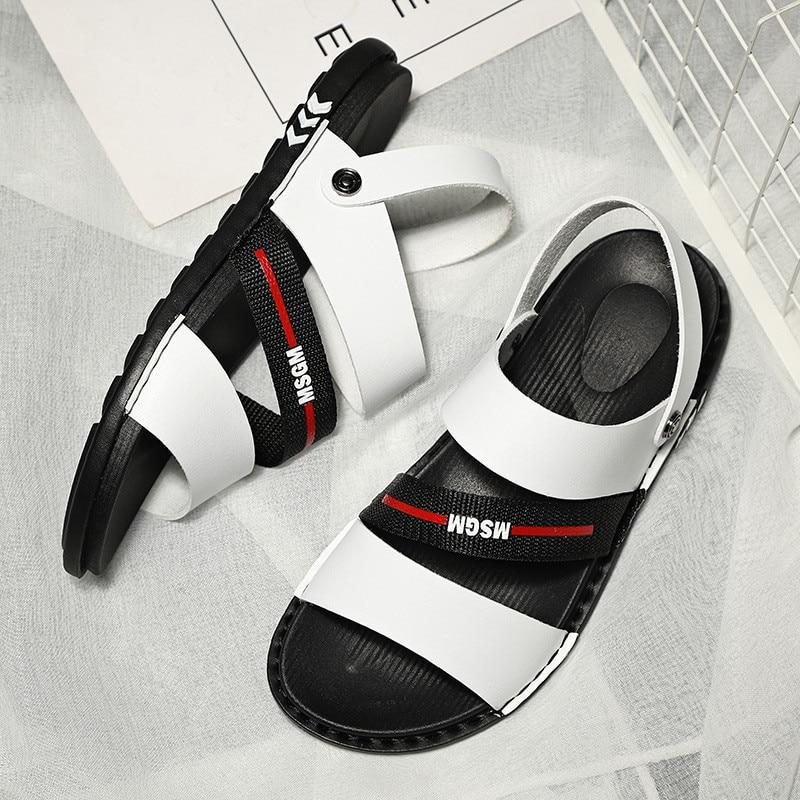 Chaussures hommes sport course été respirant cuir jeunesse marée marche chaussures léger Jogging baskets plage sandales homme grande taille 45