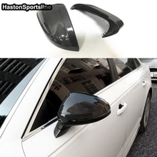 A4 B9 S4 Carbon Fiber Replace Car Rear Mirror Cap Cover Trim for Audi A4 B9 S4 2016UP