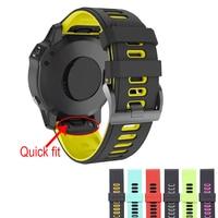Ремешок силиконовый быстросъемный для наручных часов Garmin Fenix 6X 5X 5 Plus 3 3 HR Forerunner 935 845, 26 22 мм