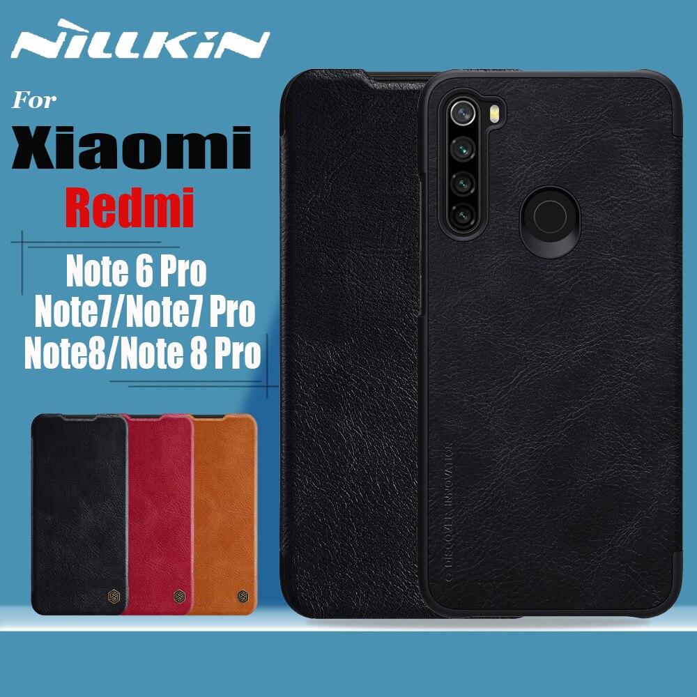 Nillkin para Xiaomi Redmi Note 8 7 6 Pro funda suave genuina Funda de cuero de imitación fundas para teléfono en Redmi Note8 Note7 Note6 Pro