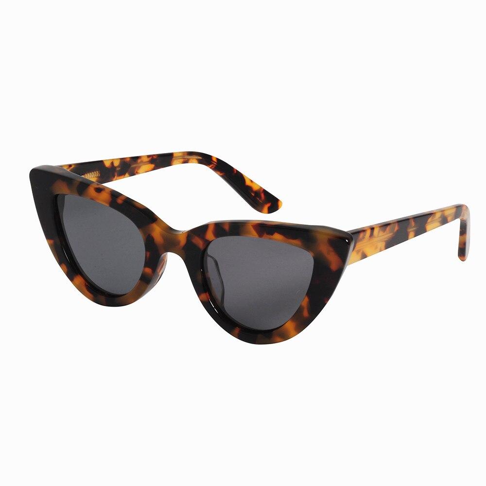 Женские солнцезащитные очки в стиле кошачий глаз LONSY, брендовые дизайнерские ацетатные солнцезащитные очки ручной работы, LS7004