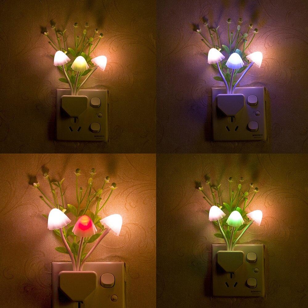Lamparitas LED románticas con Sensor colorido, regalo romántico, seta con luz para...
