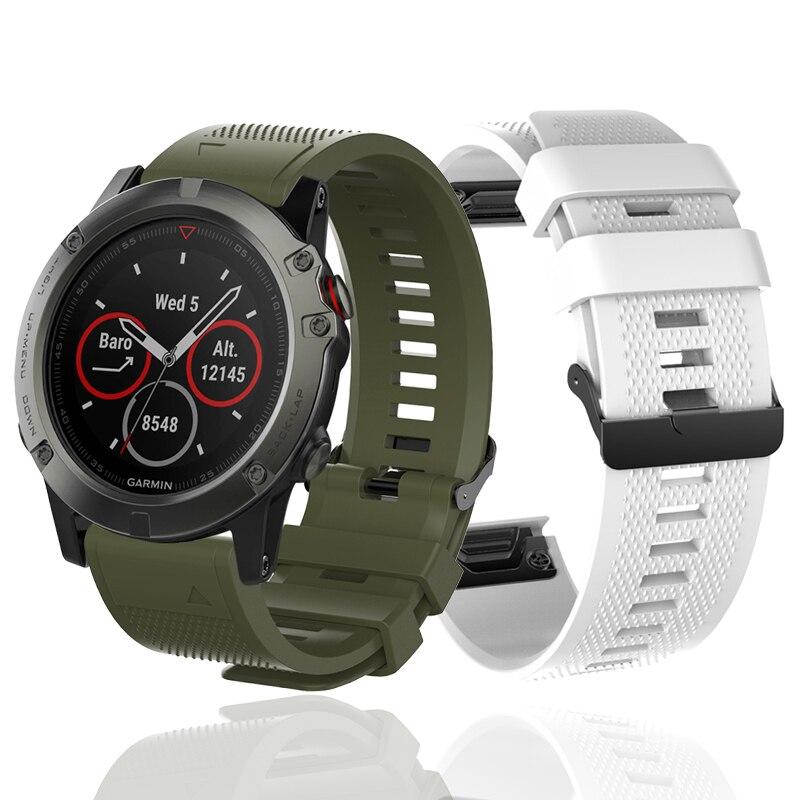 Correa de reloj inteligente de 26mm para Garmin Fenix 5X 3 3HR 6X descenso reloj MK1GPS pulsera de silicona de liberación rápida Easyfit