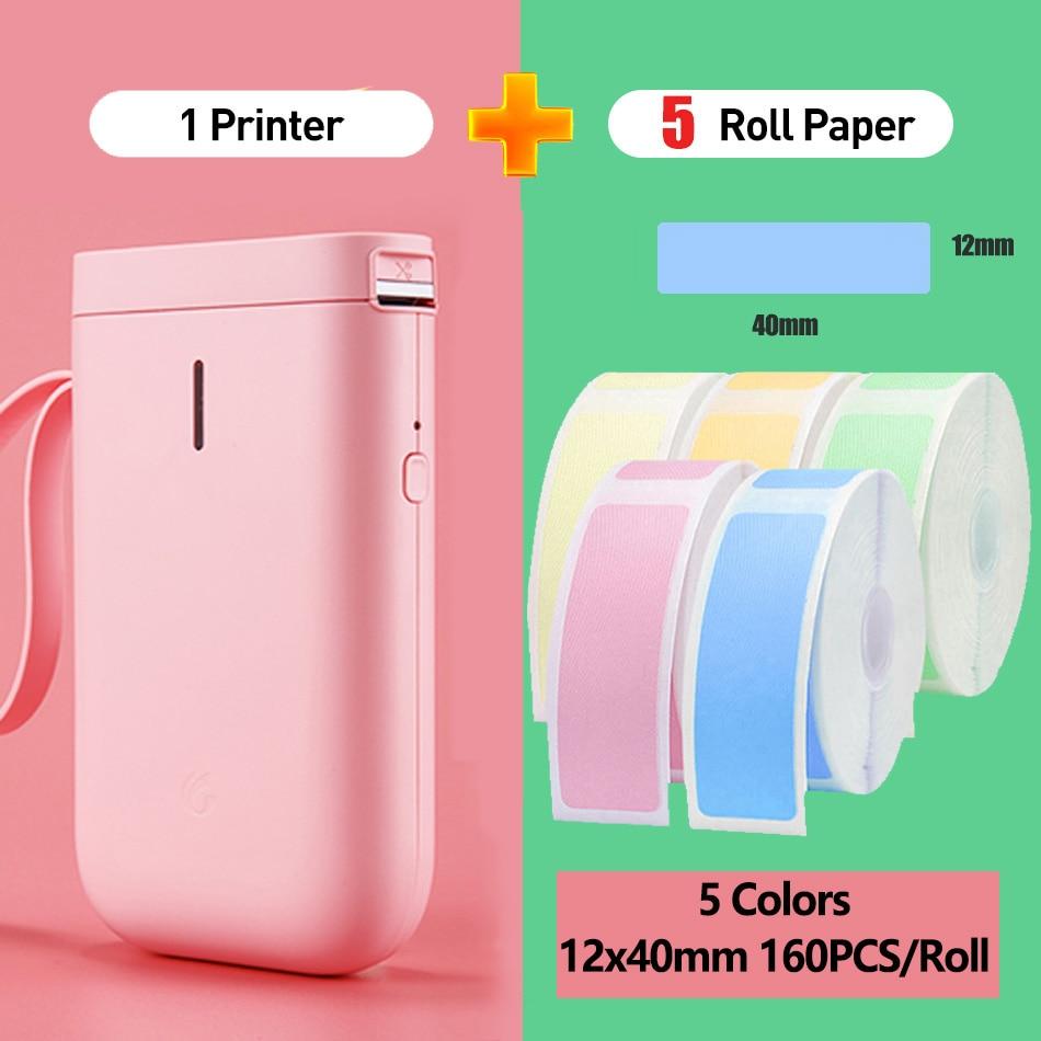 Dropship Niimbot D11 Mini Wireless Printer Bluetooth Thermal Label Printer Price Labeller Label Tag Price Printer