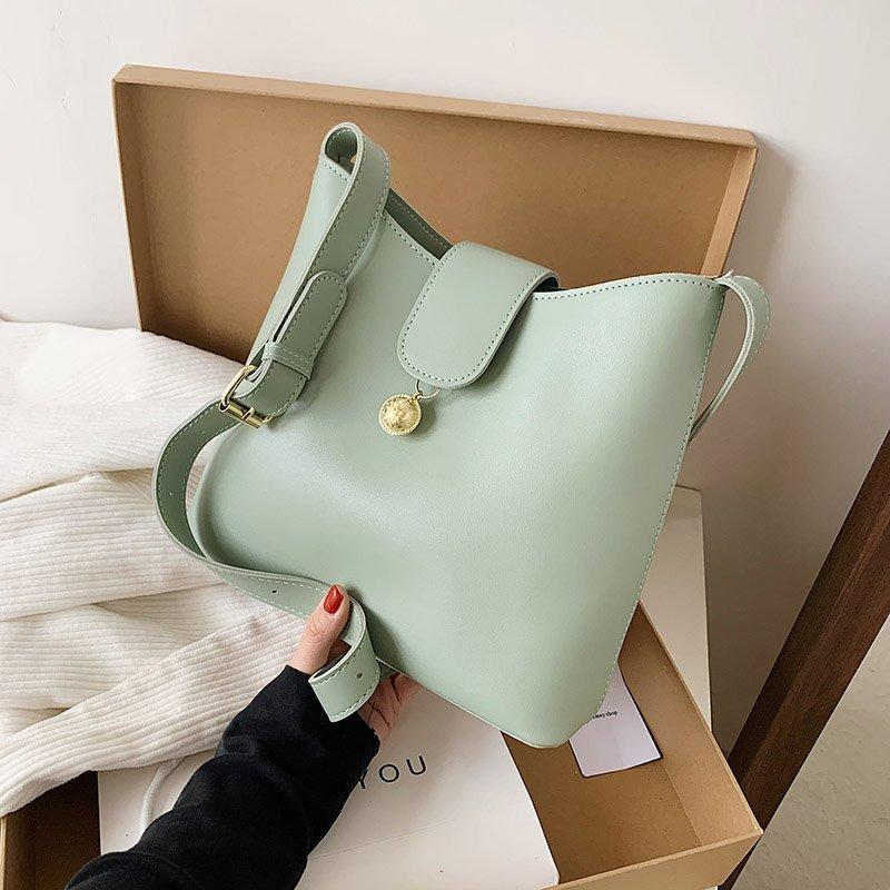 Small Simple Good Quality Bucket Bag Designer Women 2021 Shoulder Handbags Luxury Pu Leather Crossbody Bag Simply Purses