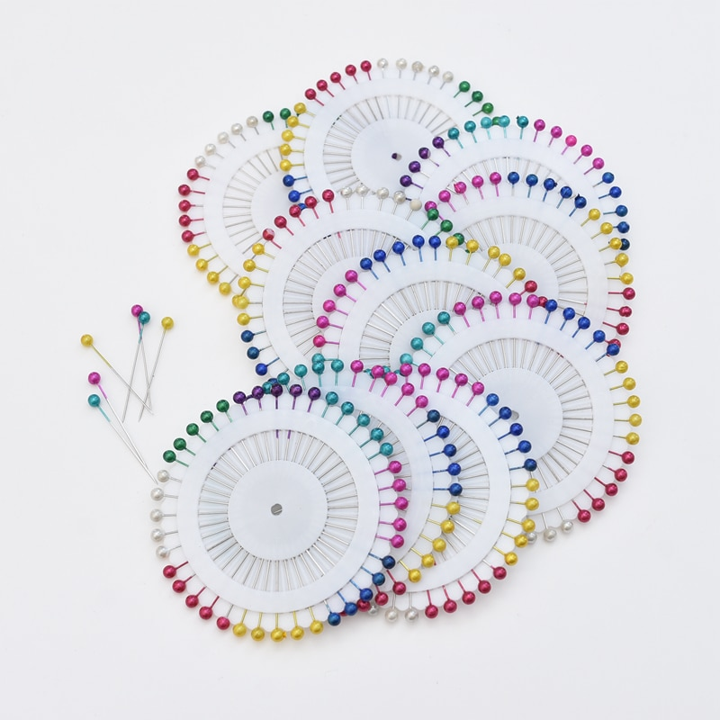 Moda igły do szycia kolorowe szklane głowy koralik pin stitch szydełka szycia naprawiono DIY agrafka