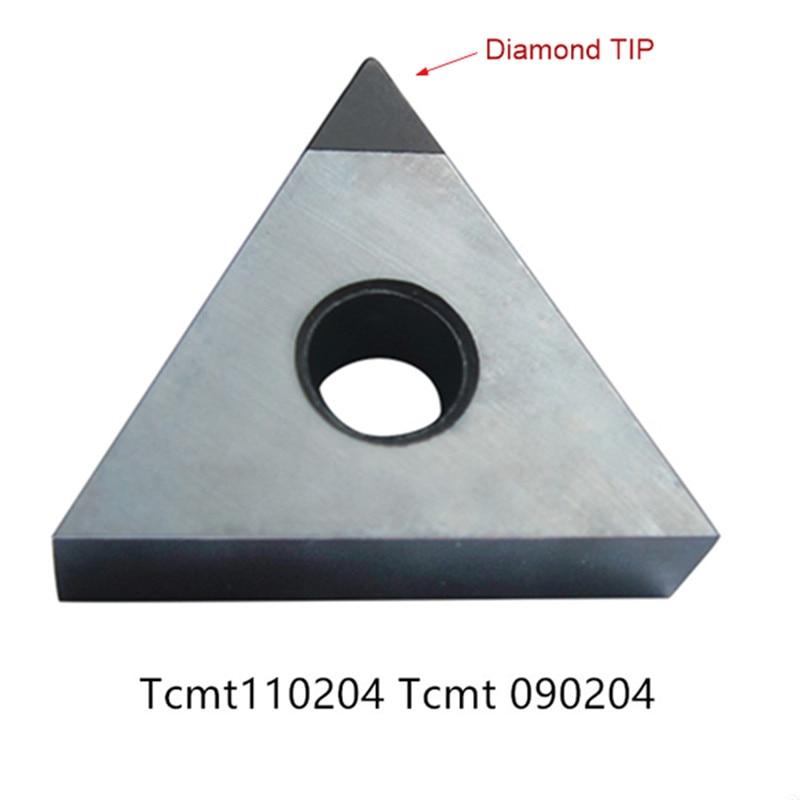 Tcmt110204 tcmt 090204 diamond diamante pcd aluminio cnc fresado insertar herramientas de corte externo cbn herramienta de torneado