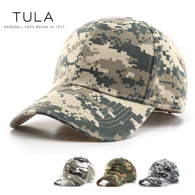 2020 Outdoor Sports Sun Hat mens baseball cap Tactical Army Fans Camping Brim Hat Womens Digital Camouflage Baseball Cap