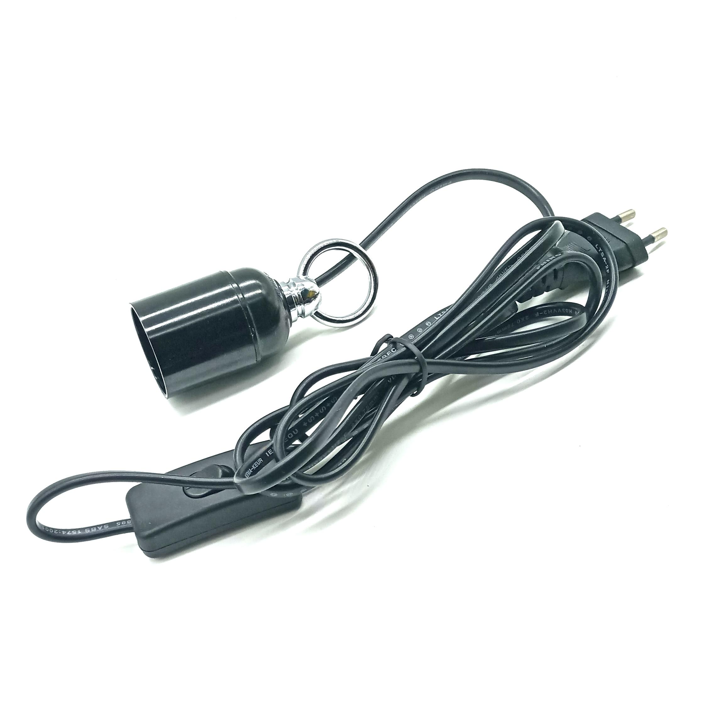 Interruptor en línea E26/27 portalámparas enchufe de la UE cuelgue la cabeza de la lámpara e27